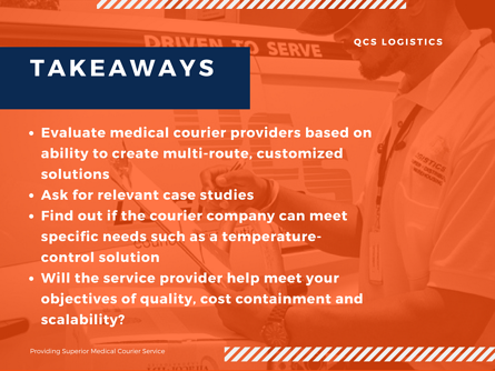 Evaluating Medical Courier Service_key takeaways_QCS Logistics_New Orleans_Louisiana.png